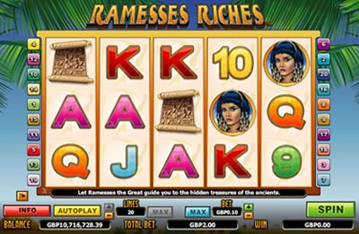 Ramesses Riches Pokies