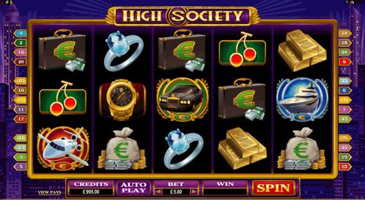 High Society Pokies Game